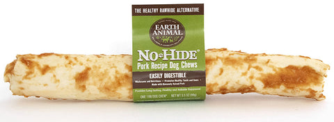 EARTH ANIMAL DOG NO-HIDE PORK LARGE CHEW TREAT 4in