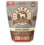 PRIMAL PATTIES 6LB RAW FROZEN CANINE VENISON FORMULA (PICK UP IN STORE ONLY)