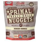 PRIMAL NUGGETS 14OZ RAW FREEZE-DRIED CANINE VENISON FORMULA