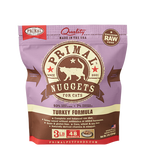 PRIMAL NUGGETS 3LB RAW FROZEN FELINE TURKEY FORMULA