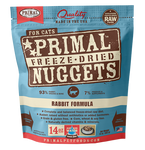 PRIMAL NUGGETS 14OZ RAW FREEZE-DRIED FELINE RABBIT FORMULA
