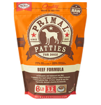 PRIMAL PATTIES 6LB RAW FROZEN CANINE BEEF FORMULA (PICK UP IN STORE ONLY)