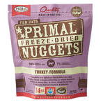 PRIMAL NUGGETS 14OZ RAW FREEZE-DRIED FELINE TURKEY FORMULA