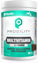 Nootie Progility Multivitamin Soft Chew Supplements for Dogs With Taurine and Essential Vitamins & Minerals for Everyday Health