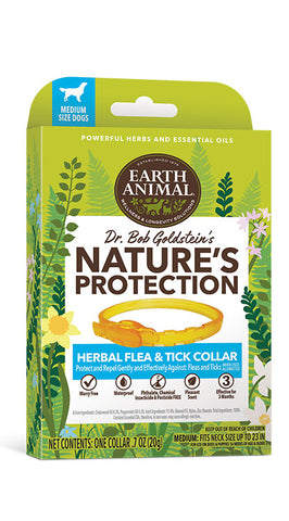 EARTH ANIMAL NATURES PROTECTION  HERBAL FLEA & TICK COLLAR FOR DOGS Medium Dog