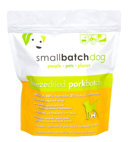 Small Batch Pork Sliders Freeze Dried Dog Food 14z