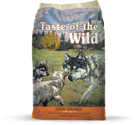 Taste Of The Wild High Prairie Puppy Recipe with Roasted Bison & Roasted Venison 5 lb