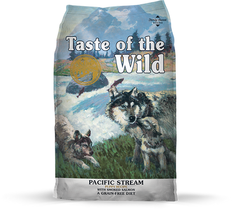 Taste Of The Wild Pacific Stream Puppy Recipe with Smoked Salmon 28 lb