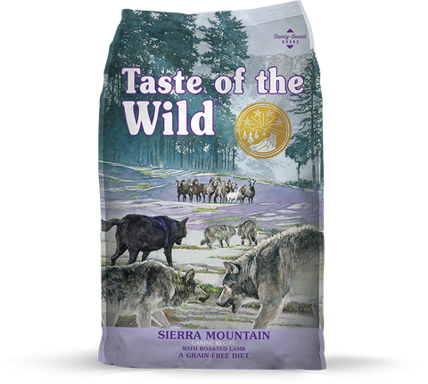 Taste Of The Wild Sierra Mountain Canine Recipe with Roasted Lamb 5 lb