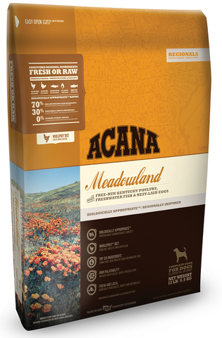 ACANA REGIONALS MEADOWLAND FORMULA GRAIN FREE DRY DOG FOOD 12oz Sample