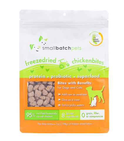 Small Batch Dog/ Cat Freeze-dried Small Bites Chicken 7 oz