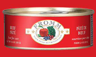 Fromm Four Star Beef Pate Canned Cat Food 5.5oz
