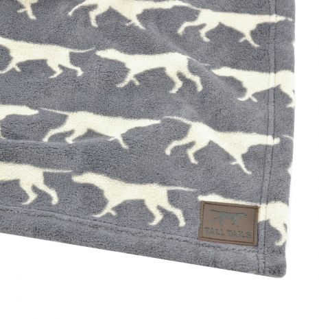 Tall Tails Blanket Grey Icon Dog 30 X 40 Fleece Charcoal