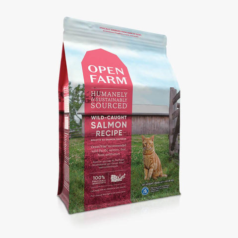 Open Farm Wild-Caught Salmon Dry Cat Food 4 lb