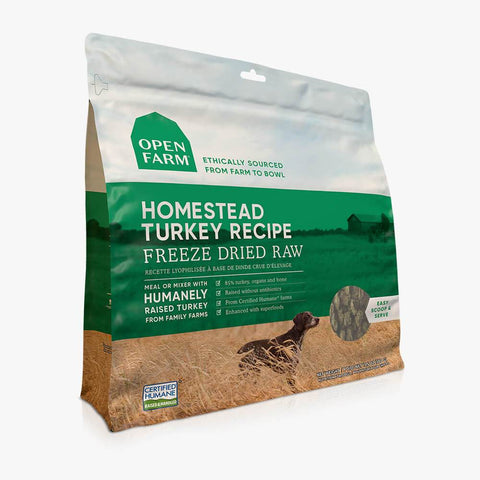 Open Farm Dog Raw Homestead Turkey 13.5oz Freeze Dried