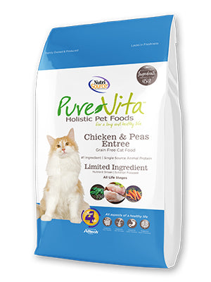 PureVita Grain Free Chicken & Peas Entree Dry Cat Food 6.6 lb