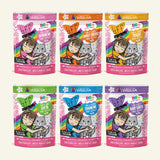 Weruva BFF OMG Rainbow Á Gogo (Variety Pack) Cat Pouch 3oz, Case of 12
