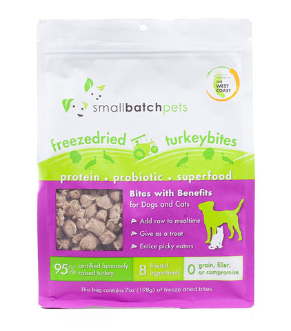 Small Batch Dog/ Cat Freeze-dried Small Bites Turkey 7 oz