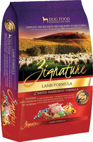 Zignature Grain-Free Lamb Limited Ingredient Formula Dry Dog Food 4lbs