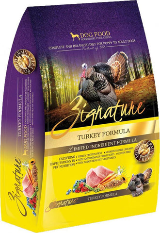 Zignature Grain-Free Turkey Limited Ingredient Formula Dry Dog Food 27lbs