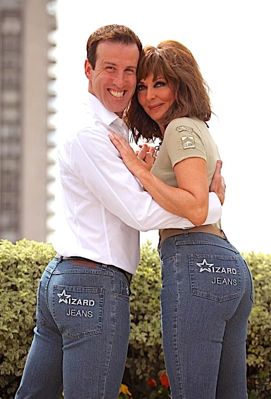 Anton du Beke and Carol Vorderman Wizard Jeans Rear of The Year