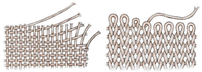 woven fabric vs knitted fabric