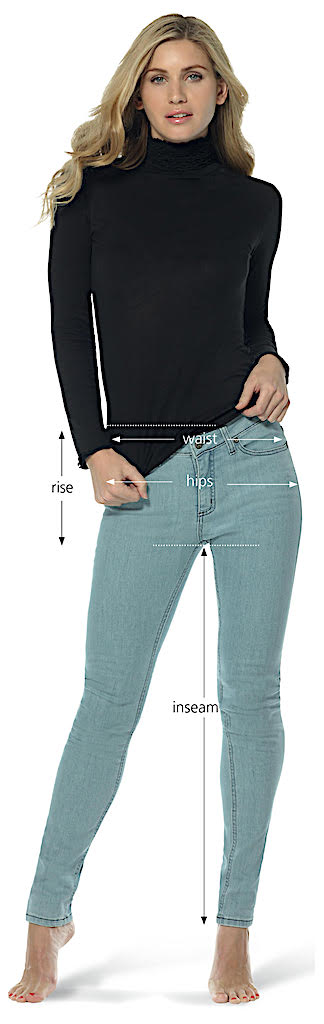 measuring guide for jeans