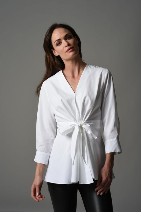 Colette white wrap 100% cotton shirt