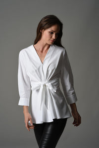 Colette White Wrap Shirt