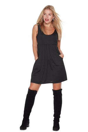 Audrey Black mini dress Anytime Anywear