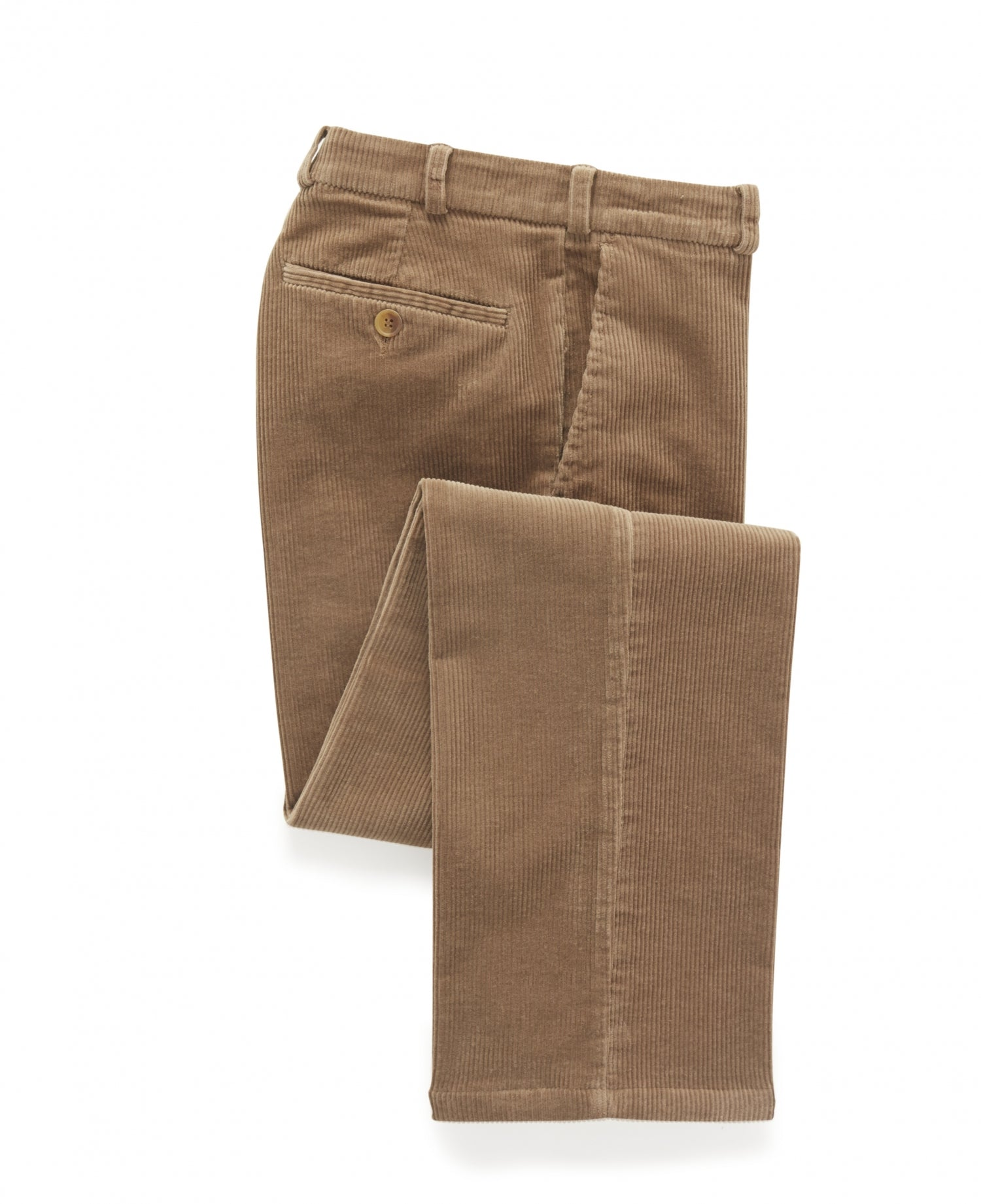 mens corduroy trousers in tan