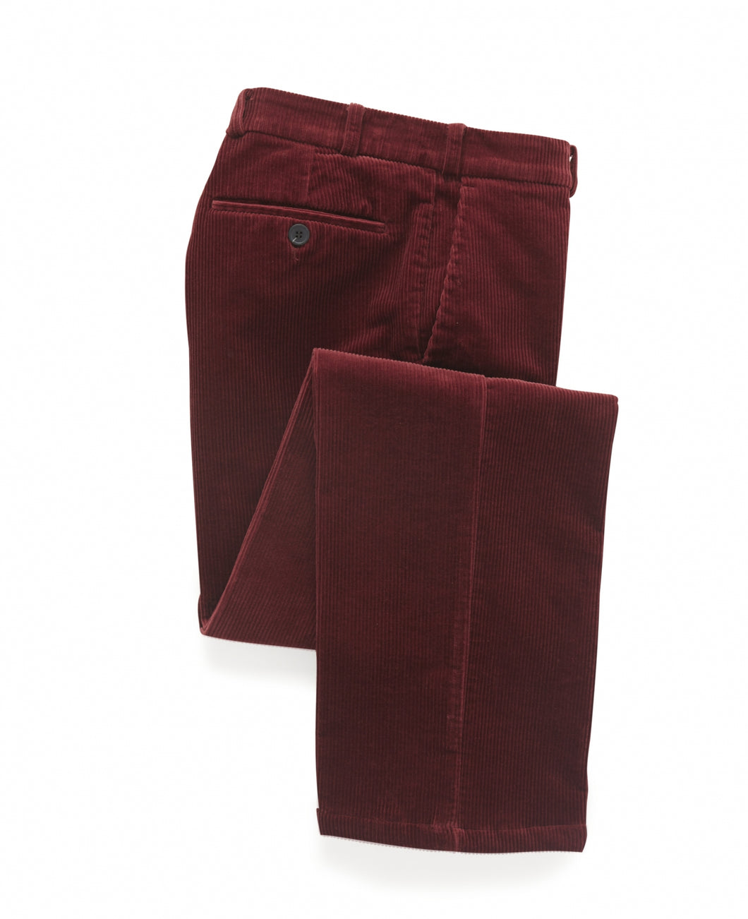 mens corduroy trousers in cherry