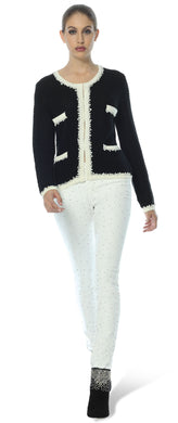 Gigi White Diamante Party Jeans (UK Sizes 4 to 16)