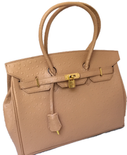 Load image into Gallery viewer, Birkin Style Handbag - Light Tan