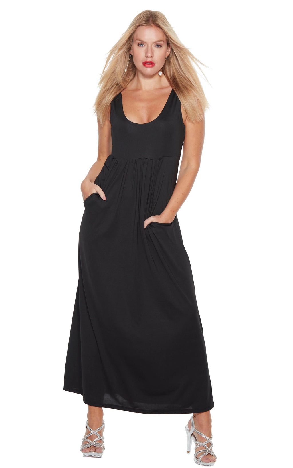 Black Maxi Dress - Audrey - Anywear collection