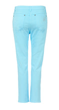 Load image into Gallery viewer, Bombay Blue Elite Wizard Jeans in fabulous turquoise. Skinny cut regular rise