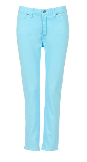Bombay Blue Elite Wizard Jeans in fabulous turquoise. Skinny cut regular rise