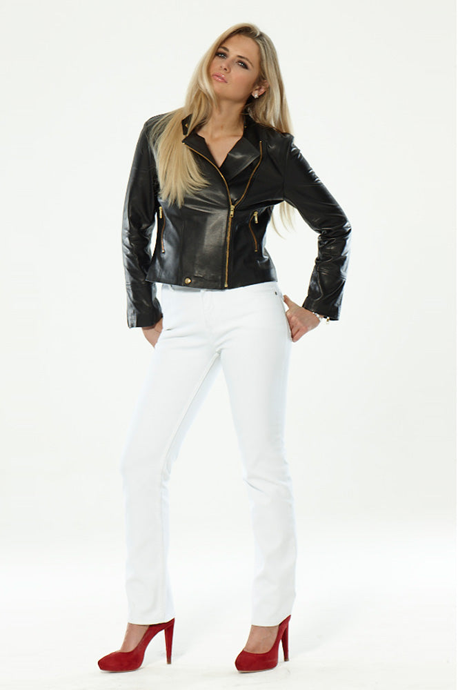 Carrie Biker Black Leather Jacket