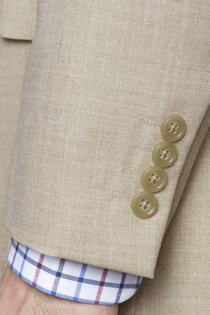 four button cuff linen jacket