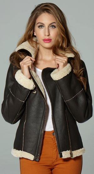 Supersoft Sheepskin Flying Jacket by Sally Allen