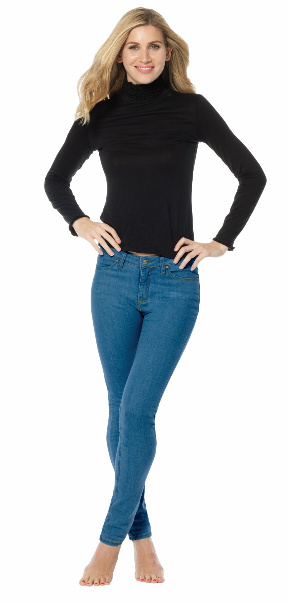 Gina Stonewash Blue Elite Wizard Jeans skinny cut and regular rise