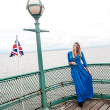 Load image into Gallery viewer, Eva Long Cobalt Blue Anytime Anywear Dress by Sally Allen