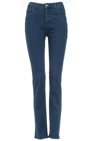 womens stonewash jeans front