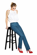 "Load image into Gallery viewer, Jude Stonewash Blue Elite Wizard Jeans - straight cut, full rise with 30"" inside leg"