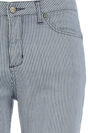 Lyndy Stripe Elite Wizard Jeans blue and white stripe skinny cut regular rise pocket control