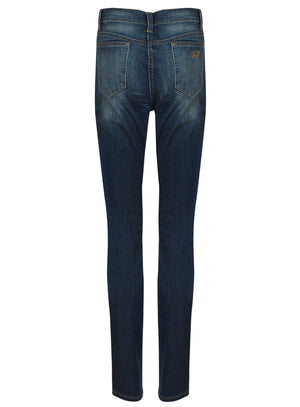 womens patch skinny jeans back
