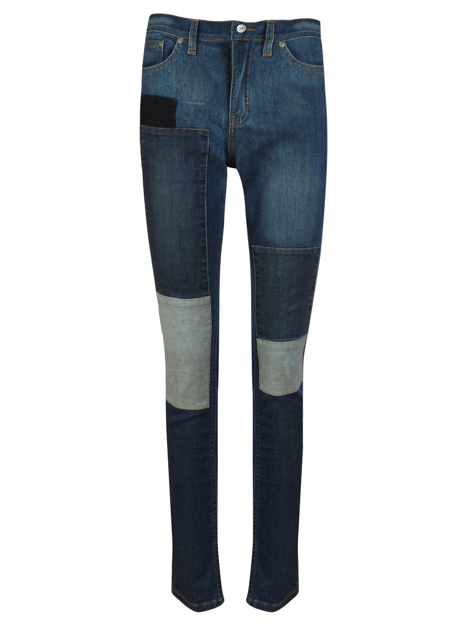 womens patch skinny jeans front