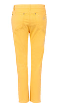 Load image into Gallery viewer, womens lemon yellow jeans back