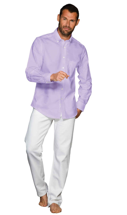 Men's Lilac 100% cotton shirt
