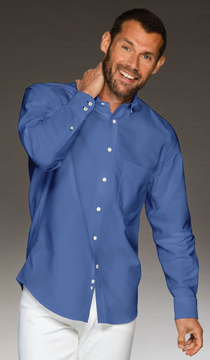 Men's 100% cotton shirt in blue